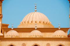 Dubai Mosque. Close up of the Domes of a Beautiful Dubai Mosque Royalty Free Stock Photos