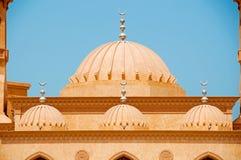 Dubai Mosque. Close up of the Domes of a Beautiful Dubai Mosque royalty free stock photos
