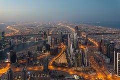 Dubai na manhã imagens de stock royalty free