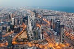 Dubai na manhã fotos de stock royalty free