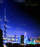 Dubai. Nachtansicht Stockfoto