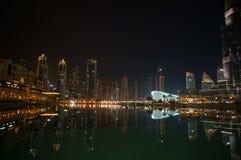 Dubai nachts Lizenzfreie Stockfotografie