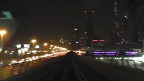 Dubai-Nachtzug stock video footage