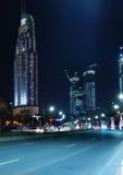 Dubai nattsikt Royaltyfri Foto