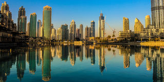 Dubai ner stad Arkivfoto