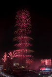 Dubai New Year fireworks Stock Photos