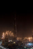 Dubai New Year fireworks Royalty Free Stock Photos