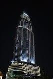 Dubai by night. The Address Hotel in Dubai by night Royalty Free Stock Image