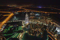 Dubai at night Stock Photo