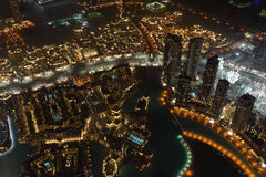 Dubai at night Stock Photos