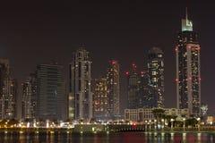 Dubai at night Stock Photos