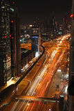 Dubai at night Royalty Free Stock Photography