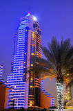 Dubai by night Stock Image