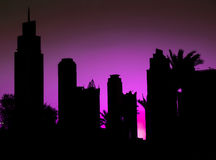 Dubai At Night Royalty Free Stock Image