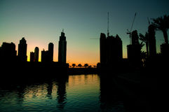 Dubai At Night Royalty Free Stock Images