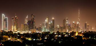 Dubai by night Stock Photo