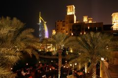 Dubai Night Royalty Free Stock Photo