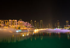 Dubai night Stock Photography