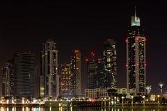 Dubai at night Royalty Free Stock Photos