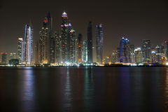 Dubai night. Dubai Marina - lovely night view Stock Photography
