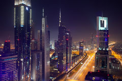 Dubai by Night Royalty Free Stock Photos