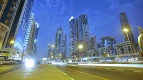 Dubai night time lapse stock video footage