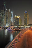 Dubai at Night, UAE Royalty Free Stock Images