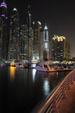 Dubai at Night, UAE Stock Photo