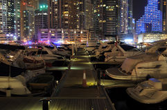 Dubai at Night, UAE Royalty Free Stock Photo