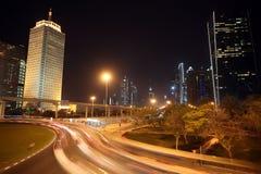 Dubai at night Royalty Free Stock Photography