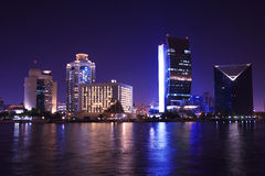 Dubai at night, united arab emirates Royalty Free Stock Photos