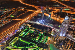 Dubai at the night in United Arab Emirates Royalty Free Stock Photos