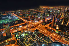 Dubai at the night in United Arab Emirates Royalty Free Stock Photography