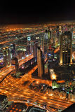Dubai at the night in United Arab Emirates Stock Photos