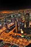 Dubai at the night in United Arab Emirates Stock Photos