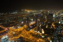 Dubai by night Royalty Free Stock Photography