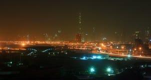 Dubai night view Stock Images