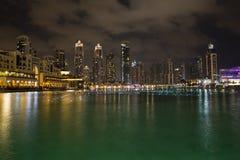 Dubai at night Royalty Free Stock Images