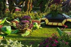 Dubai, 17. November 2017 - Garten des Wunder-UAE in Dubai UAE lizenzfreie stockbilder