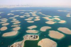 Dubai o panor de França de Suíça de Alemanha Áustria das ilhas de mundo Foto de Stock
