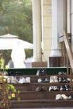 dubai opuszczać meczet na zewnątrz butów Zdjęcia Royalty Free