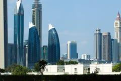 Dubai-Park-Türme Stockfoto
