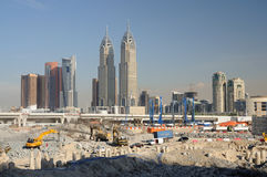 Dubai Pearl construction site Royalty Free Stock Images