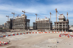 The Dubai Pearl construction site Royalty Free Stock Photos