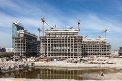 The Dubai Pearl construction site Royalty Free Stock Photography