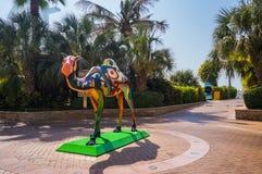 dubai Pendant l'été de 2016 Oasis de l'hôtel de plage de Jumeirah sur le golfe Persique Photo libre de droits