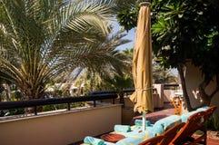 dubai Pendant l'été de 2016 Oasis de l'hôtel de plage de Jumeirah sur le golfe Persique Images libres de droits