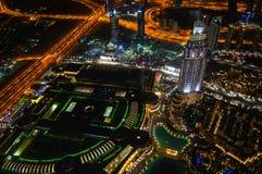 Dubai por noche Fotos de archivo