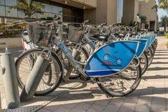 Dubai push bike sharing scheme Royalty Free Stock Photos