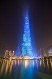 Dubai que celebra el recibimiento de la expo 2020 Imagen de archivo